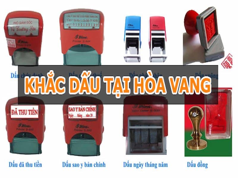 Dịch vụ khắc dấu tại huyện Hòa Vang Đà Nẵng